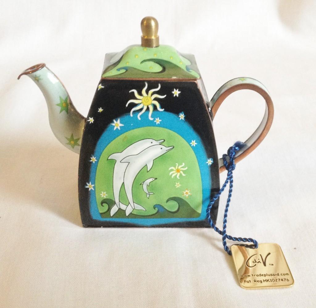 nivag collectables charlotte di vita aquamarine aquamarine teapot boxed. Black Bedroom Furniture Sets. Home Design Ideas