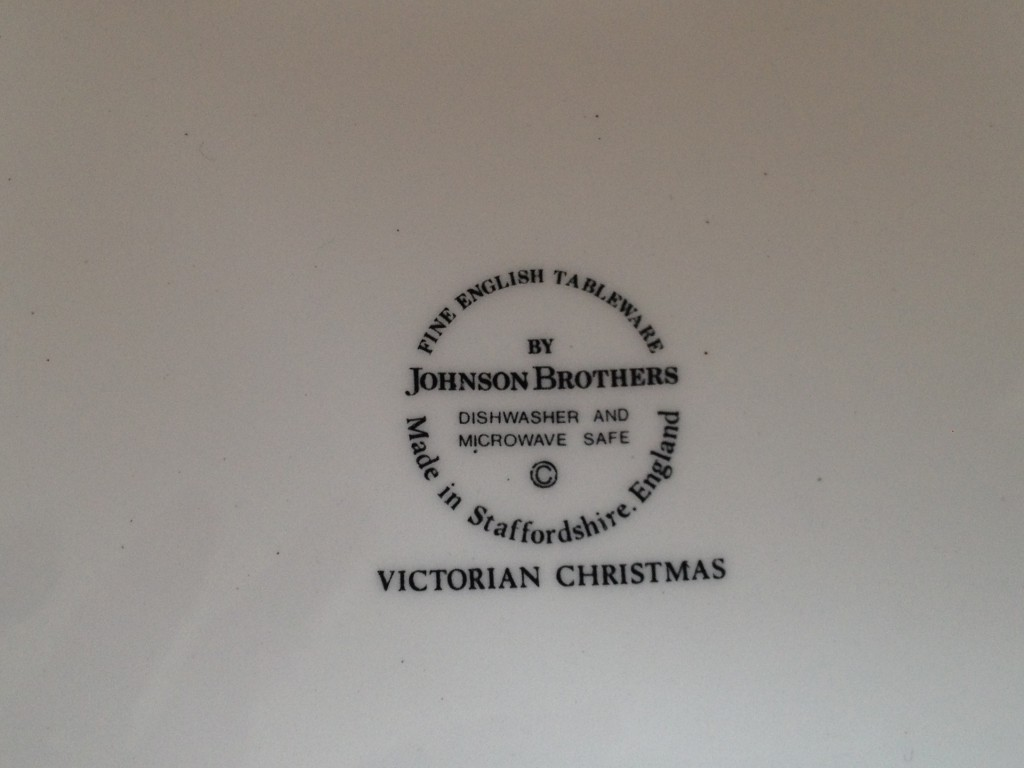 Nivag Collectables: Johnson Brothers - Victorian Christmas: Set of 6 ...