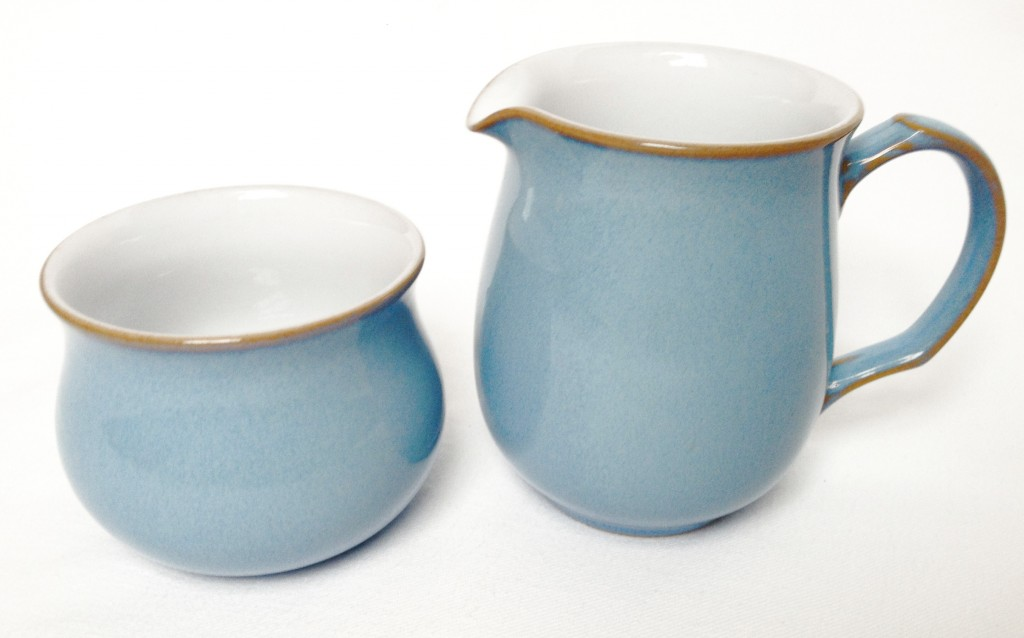 Nivag Collectables: Denby - Colonial Blue: Milk Jug and Sugar Bowl