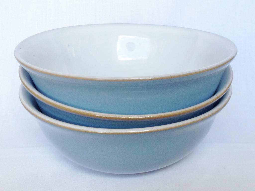 Nivag Collectables: Denby - Colonial Blue: Set of 3 Cereal Bowls