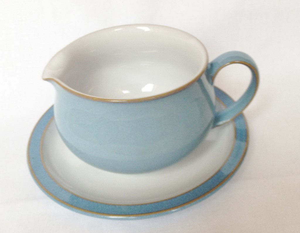 Nivag Collectables: Denby - Colonial Blue: Gravy Jug and Stand