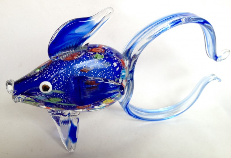 Nivag collectables murano large glass fish for Murano glass fish